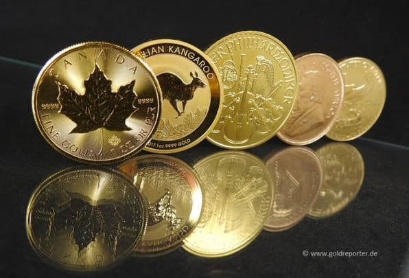 Goldmünzen, Gold kaufen (Foto: Goldreporter)