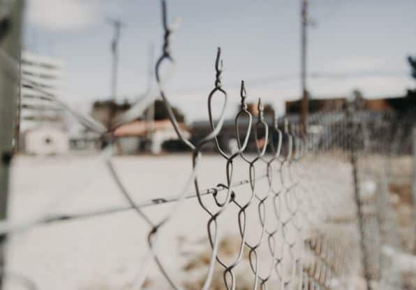 Image of a perimeter security fence.