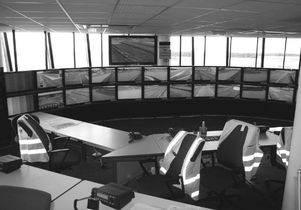 Image of operator control room for PIDS low false alarm..