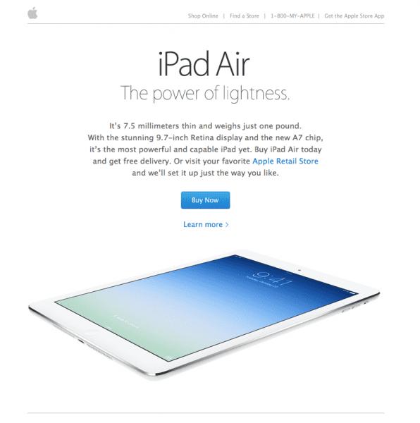 iPad Air email