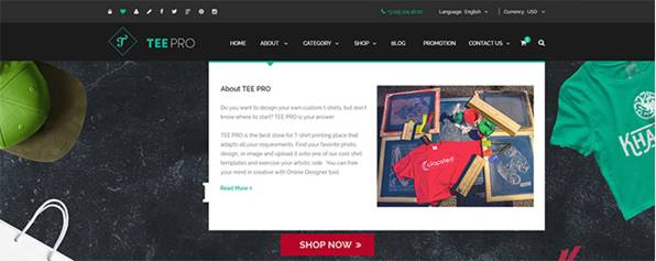 Key success factors of T-shirt solution on WordPress platform 6