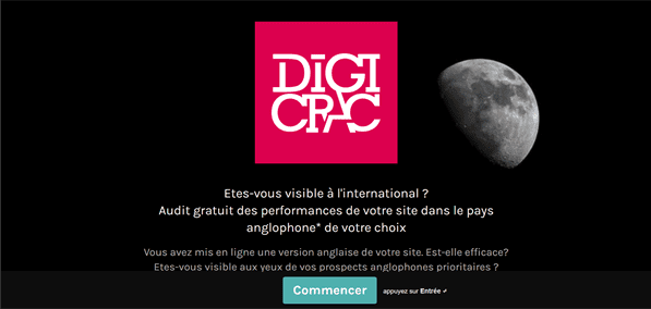 Test Digicrac : Etes-vous visible à l'international