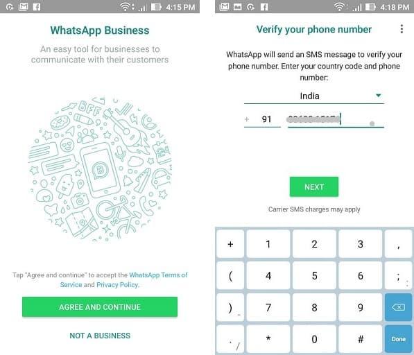 setup whatsapp business