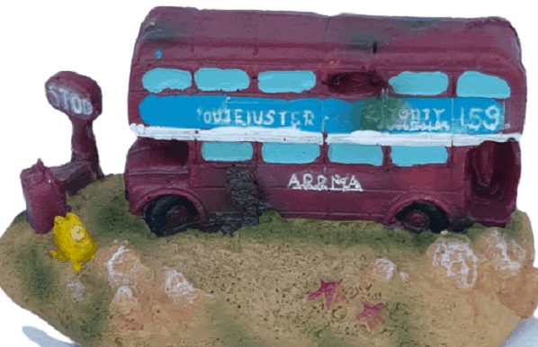 London Bus Aquarium Ornament