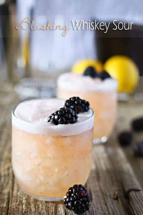 Spring Cocktail Ideas | Blushing Whiskey Sour