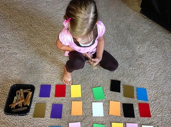 Color Sorting Preschool Activitiy