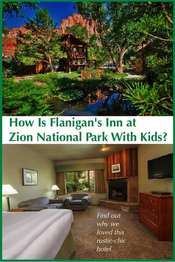 Flanigan's inn has a great pool, hilltop labyrinth, a welcoming restaurant and a laid-back, upscale rustic vibe. It's a good hotel choice for families visiting zion national park