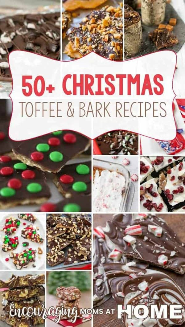 Homemade treats make great gifts for teachers, neighbors and other at Christmas or anytime you want to bless someone.  Take a look at our list of 50+ Christmas Toffee and Bark Recipes.
