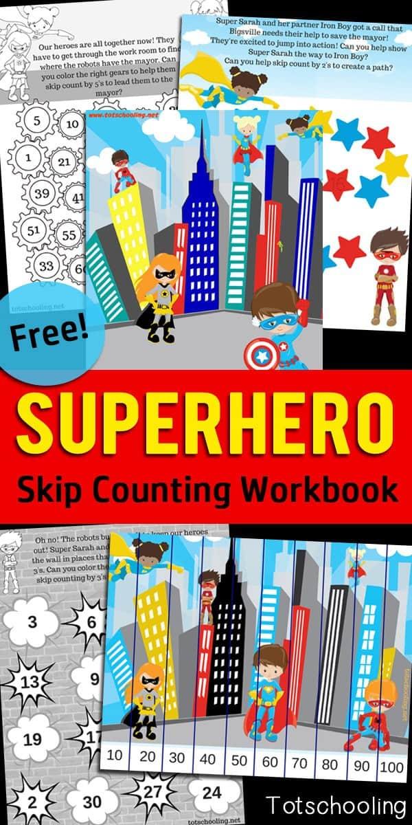 Superhero-Skip-Counting-Workbook