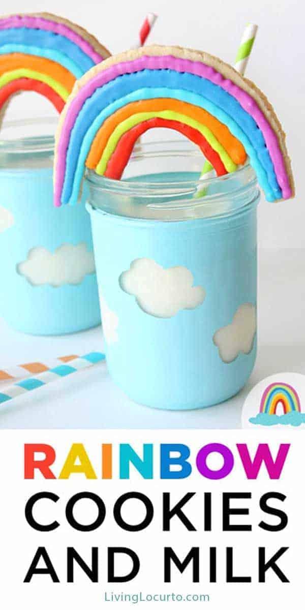 Easy Rainbow Cookies Recipe - Rainbow Party Ideas LivingLocurto.com