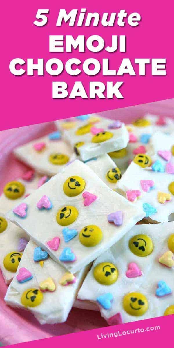 5 Minute Emoji Chocolate Bark Recipe