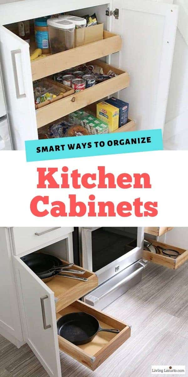 Easy Ways to Organize Kitchen Cabinets - Smart Organizing ideas and home decor ideas