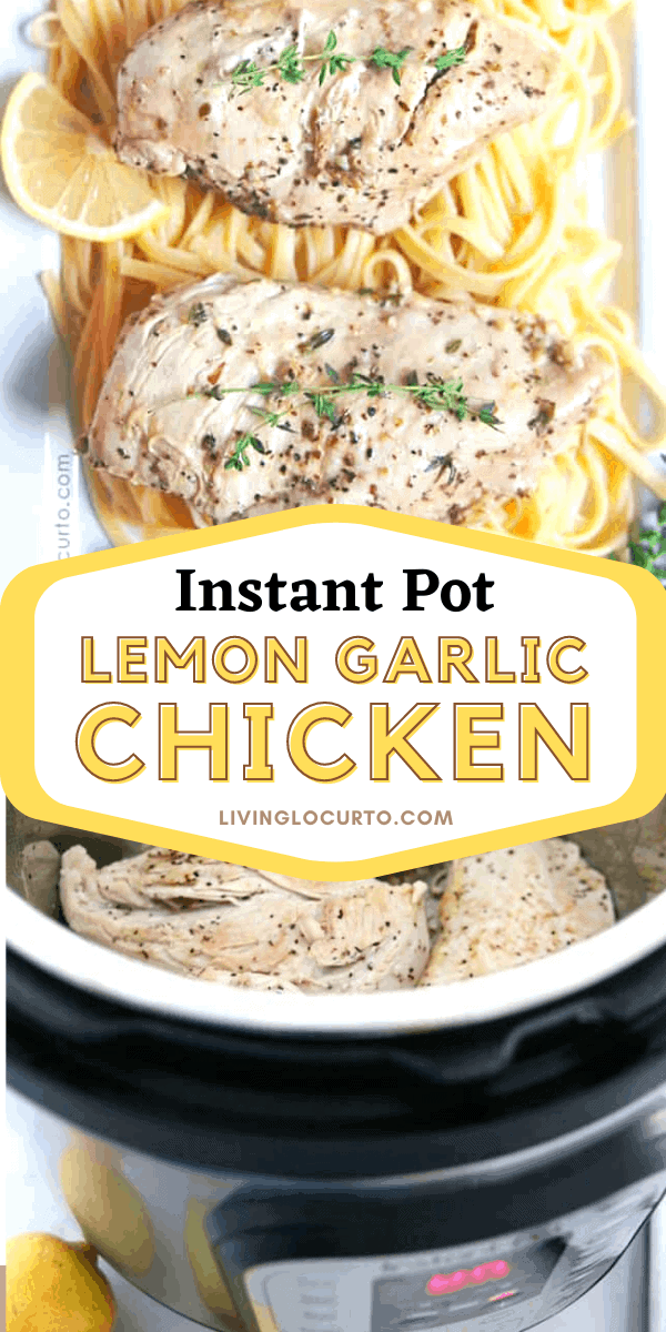 Instant pot lemon garlic chicken breast recipe with pasta