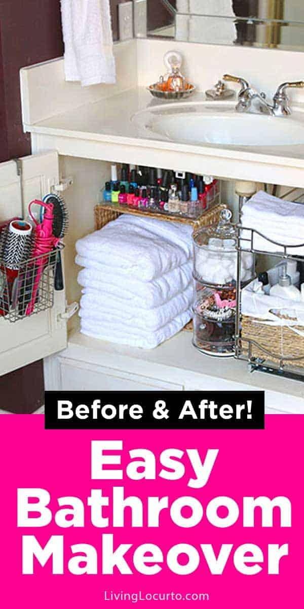 Bathroom Organization Ideas Easy Home Makeover Living Locurto