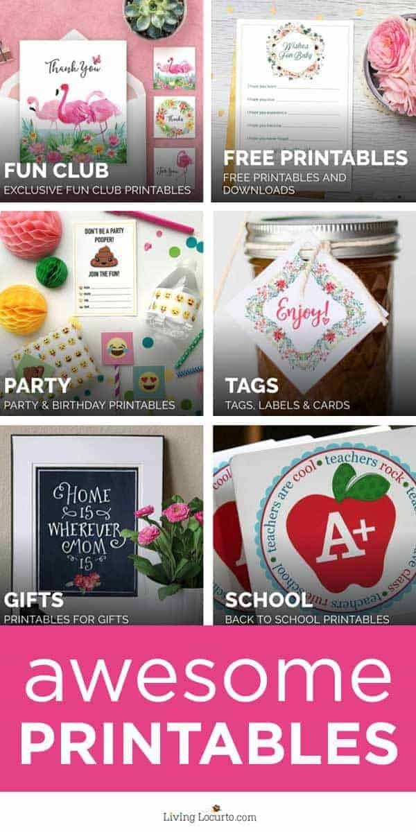 Tons of FREEprintables designed to help make your life easier and fun! From birthday party printables to holiday printables, find desgns for any occasion!#printables #freeprintables #livinglocurto