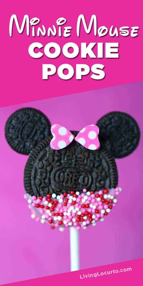 How to make cute Disney Minnie Mouse Cookie Pops