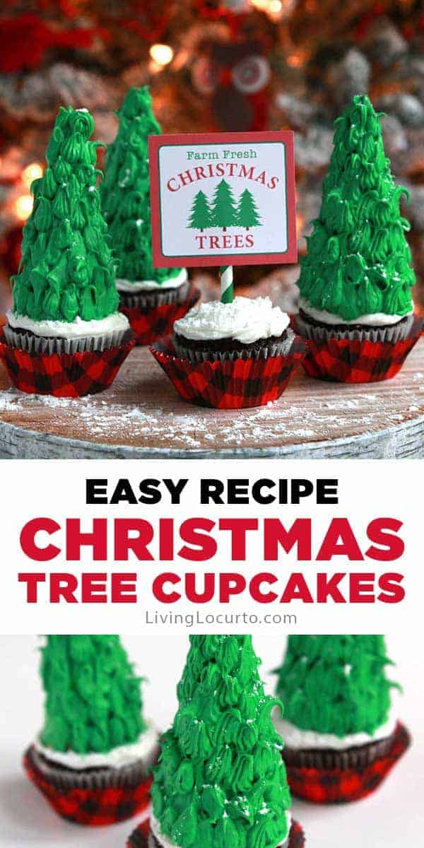 Easy Christmas Tree Cupcakes are a fun holiday dessert recipe.