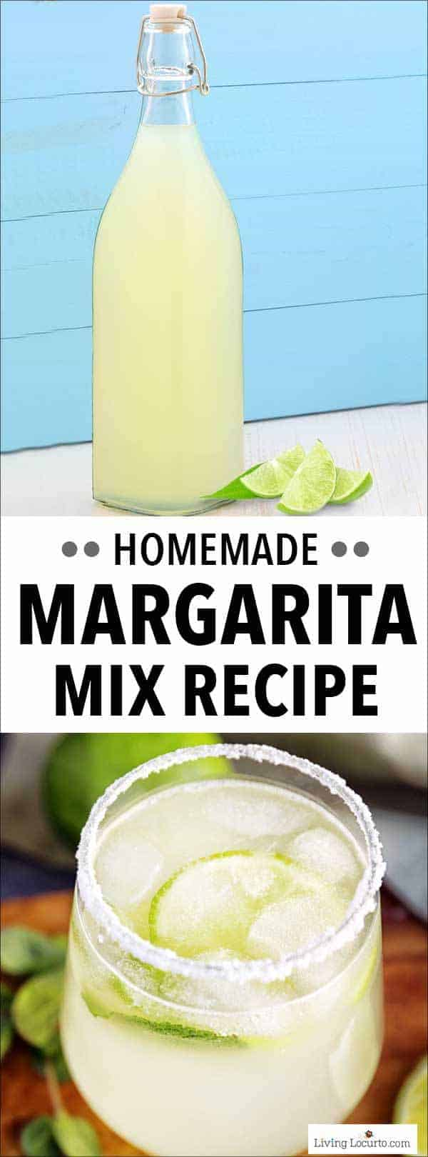 This Margarita Mix recipe is an easy homemade mix to make at home. Add tequila for a pitcher of margaritas or a margarita by the glass. This is a great cocktail recipe to make for your next party!