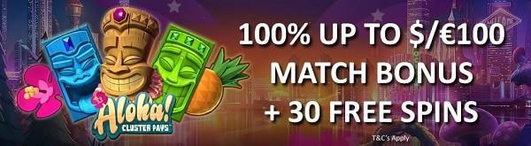 Wunderino Casino 30 freispiele und 100 EUR gratis bonus!