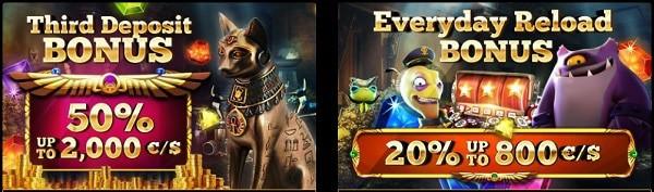 Reload Bonus to Cleopatra Casino