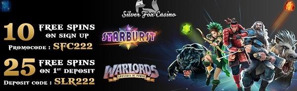 Silver Fox Casino 10 free spins no deposit bonus code