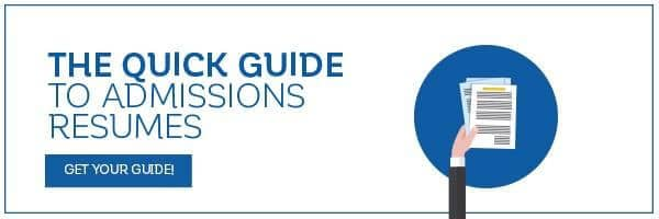The Quick Guide to Admission Resume
