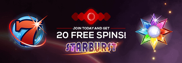 20 free spins on Starburst slot