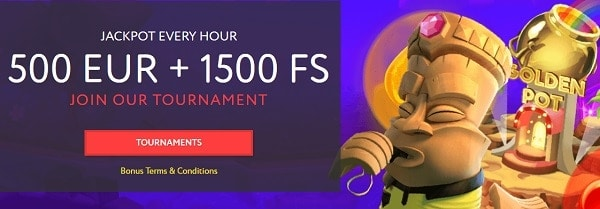 500 EUR and 1500 Free Spins