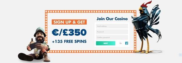 Slotty Vegas Casino welcome bonus: free money + free spins