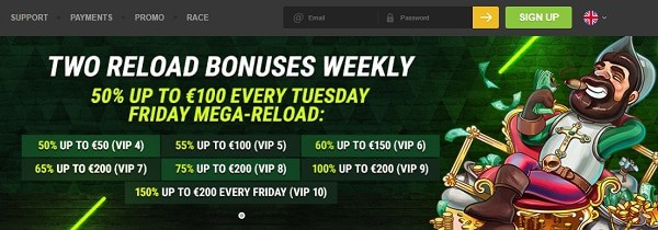 Daily and weekly casino offers