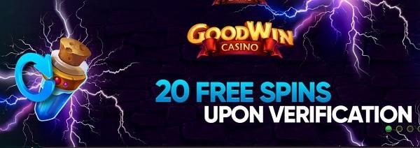 Goodwin Casino 20 free spins
