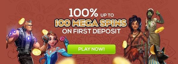 Queen Vegas Casino 100% bonus and 100 free spins