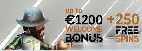 GoPro Casino 250 free spins bonus