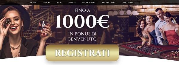 €1.000 in bonus di benvenuoto