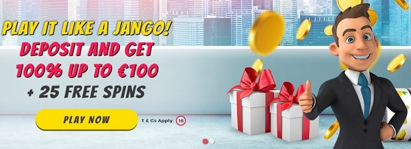 Welcome Bonus: 100% up to 100 EUR and 25 Free Spins