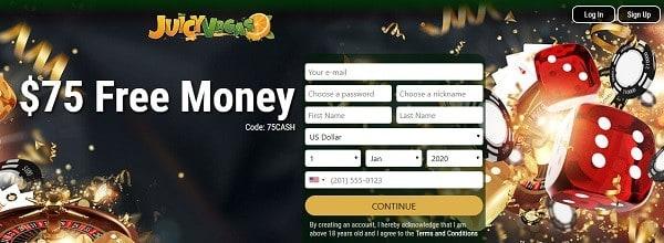 75 USD free bonus code