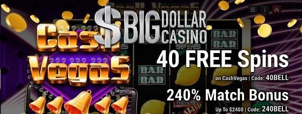 40 free spins + 240% welcome bonus