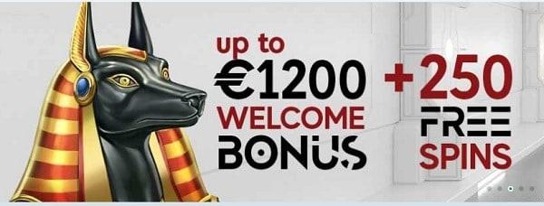 GoPro Casino 250 freispiele and 1200 EUR gratis bonus