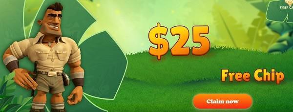 $25 free spins, no deposit bonus!
