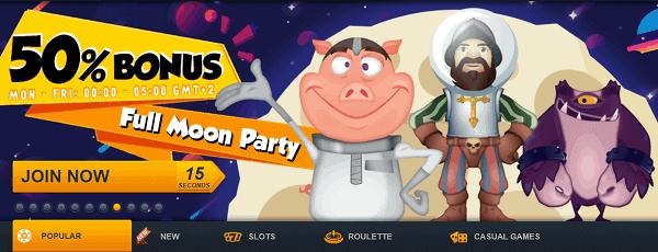 50% reload bonus - Full Moon Party