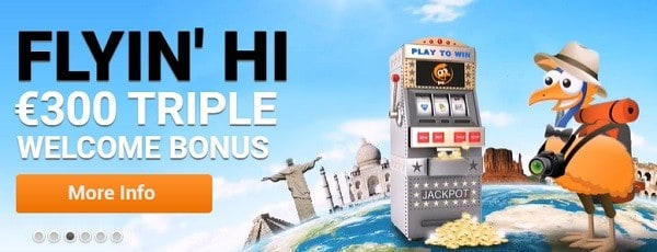 Emu 300 bonus and free spins