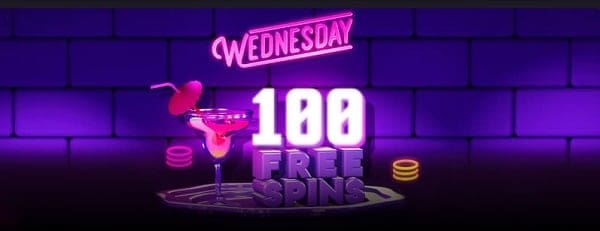 100 free spins Wednesday
