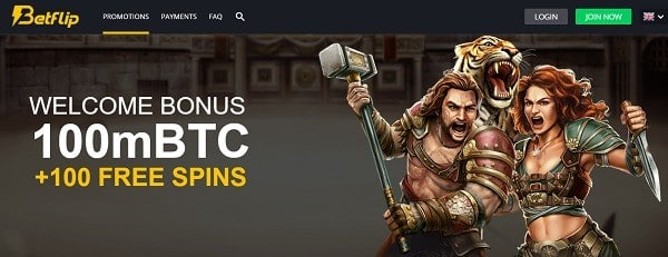 100 mBTC and 100 free spins for new depositors