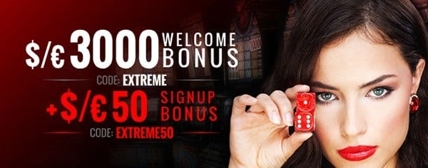 Casino Extreme welcome bonus and free spins