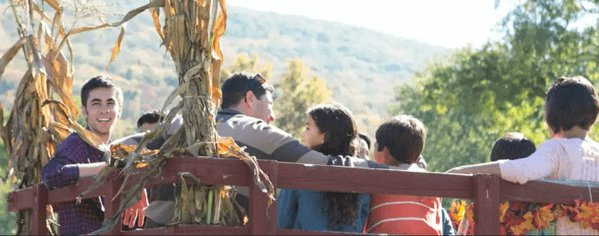 Hay rides are just one of many fall-foliage-related activities in the poconos.