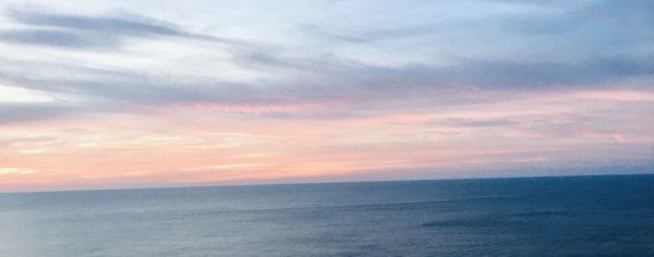 The sunset over the alabama gulf coast