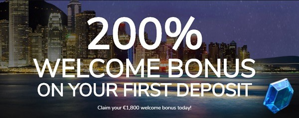 200% welcome bonus and free spins on first deposit