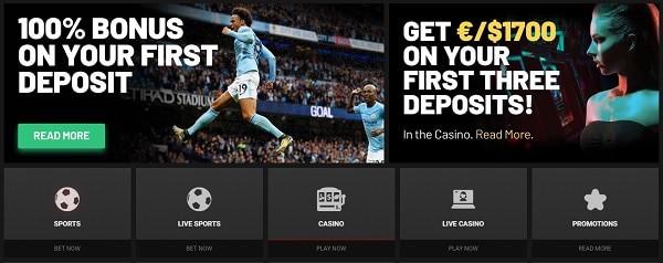 KTO 100% bonus on Sports and 1700 EUR bonus on Casino