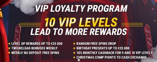 VIP rewards & loyalty program