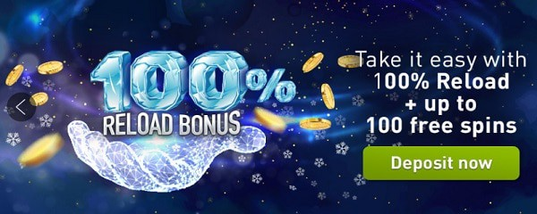 100 free spins and 100% up to 250 EUR welcome bonus